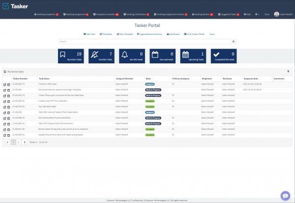 Tasker portal screenshot