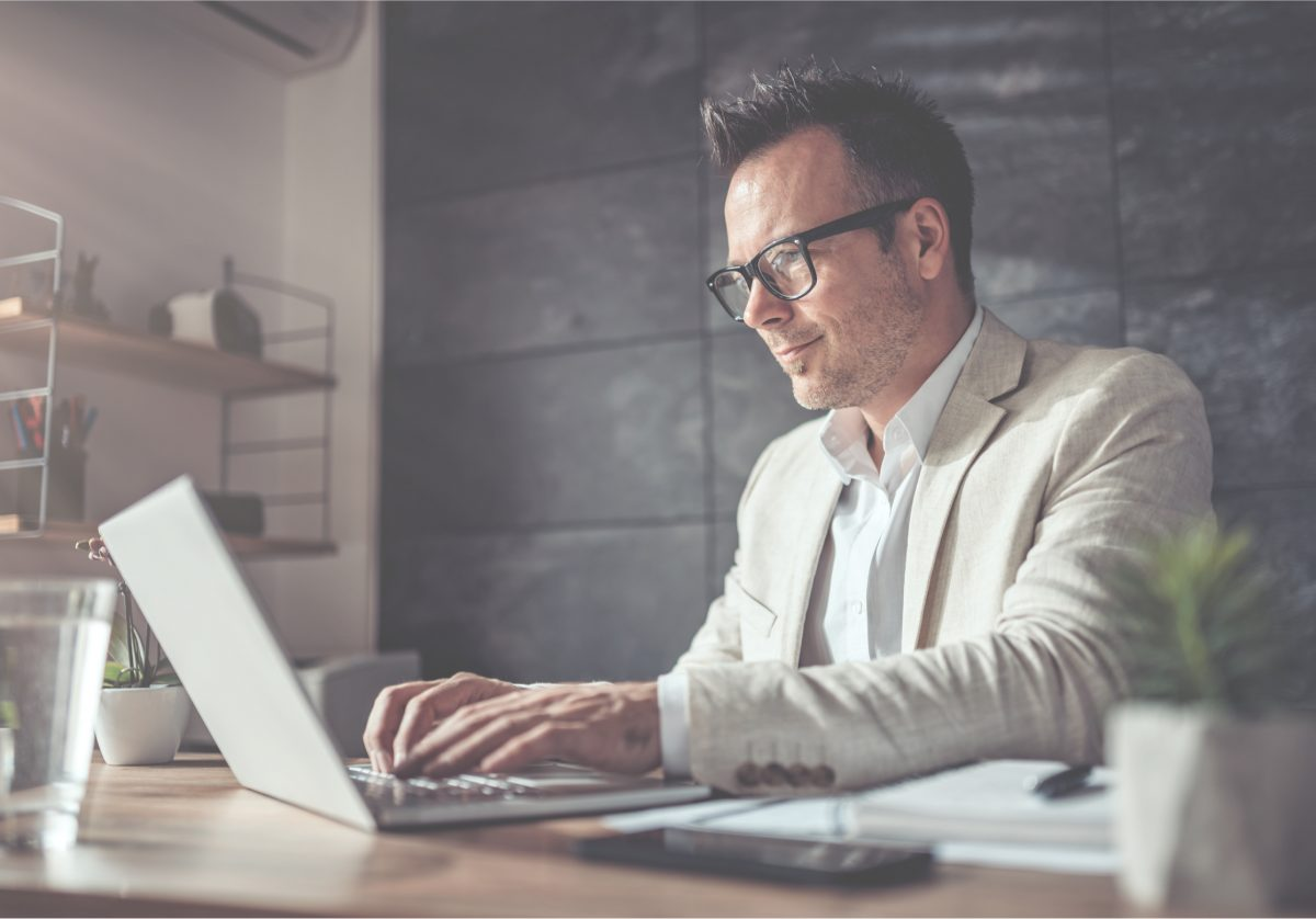 Man using laptop - homepage slider