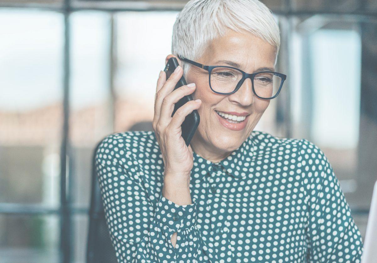 Woman on phone - homepage slider